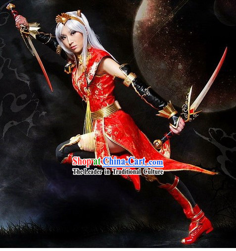 Ancient Chinese Swordsman Cosplay Costumes Set