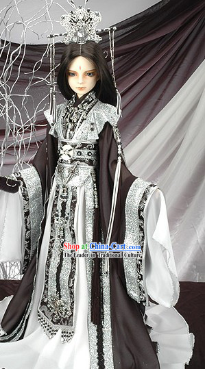 Ancient Chinese Poet Cosplay Costume Complete Set