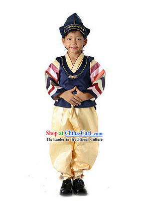 Traditional Korean Hanbok Garment Complete Set for Children