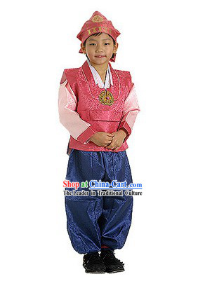 Supreme Korean Traditional Dress Hanbok for Children (red)