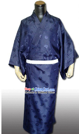 Traditional Japanese Kimono Dress for Men