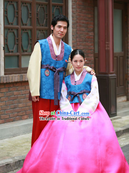 Ancient Korean Anniversary Hanbok for Couple