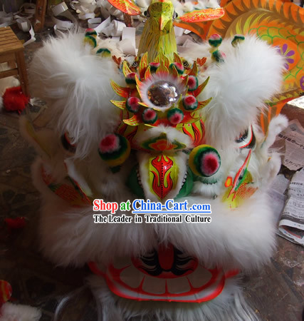 Chinese Classical Phoenix Fut San Lion Dance Costumes Complete Set