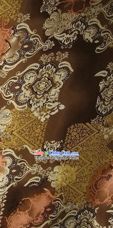 Chinese Pure Silk Ancient City Fabric