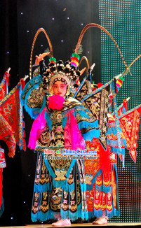 China Peking Opera Armor Costume Complete Set for Children