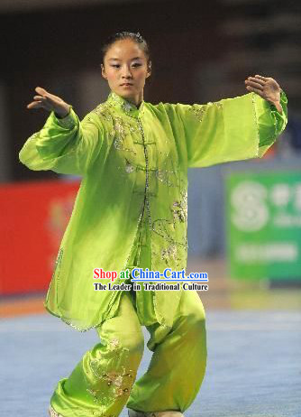 Top Grade Chinese Tai Chi Taichi Clothing Beijing Uniforms Complet Set for Women