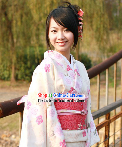 Traditional Japanese Kimono Hair Decoration Set