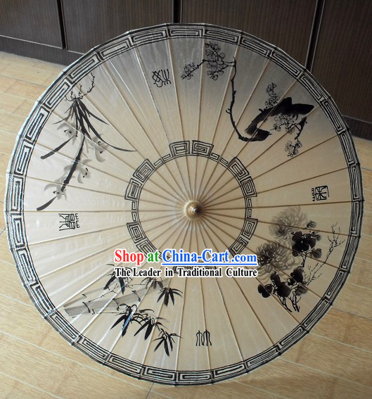 Chinese Traditional Oil Painting Umbrella