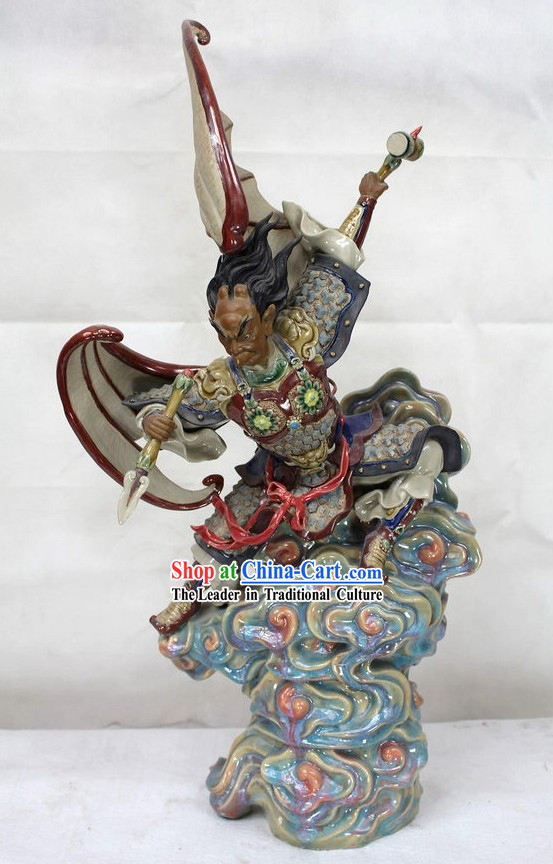 Thunder God Chinese Shiwan Ceramic Figurine