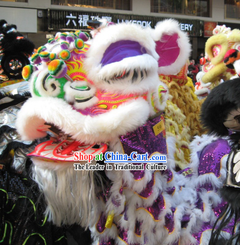 Traditional FUT SAN Lion Dance Costume Complete Set
