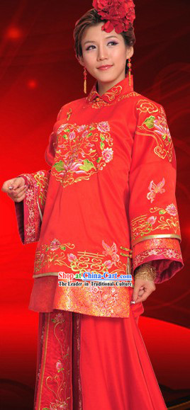 Chinese Classic Ceremonial Wedding Dress for Women
