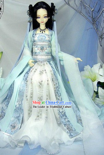 Chinese Classic Light Blue Princess Clothing