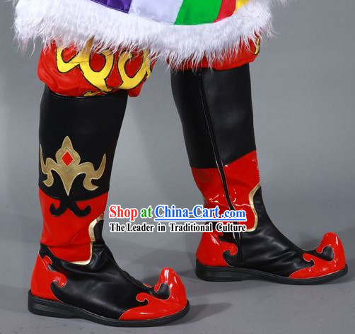 Chinese Classic Mongolian Boots for Men