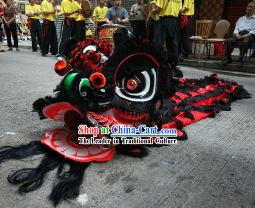 Folk Gwan Gong Lion Dance Mask Costume Complete Set