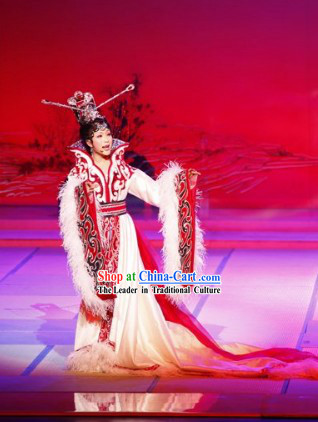 Ancient Beauty Zhao Jun Costumes and Headpiece Complete Set