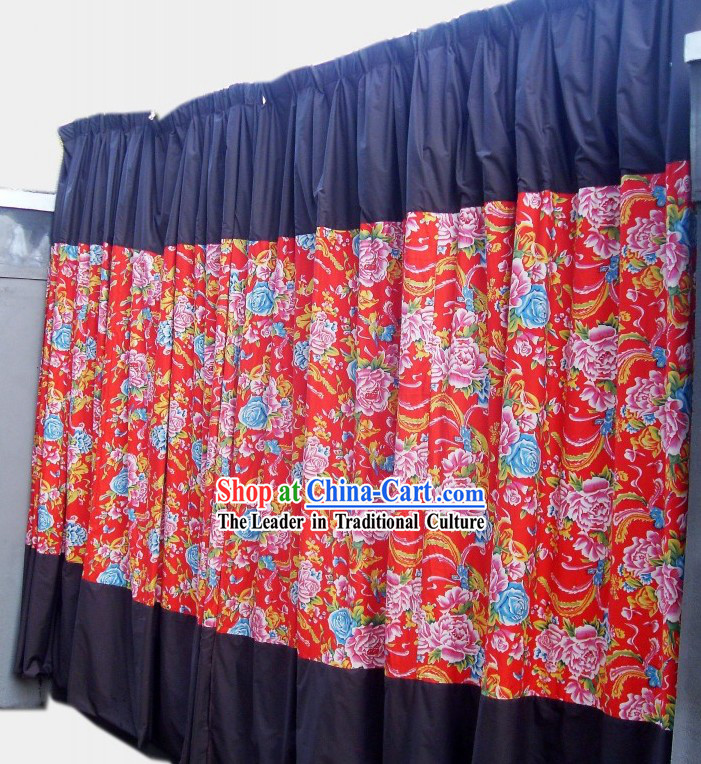 Traditional Chinese Custom Made Wedding Curtain Complete Set
