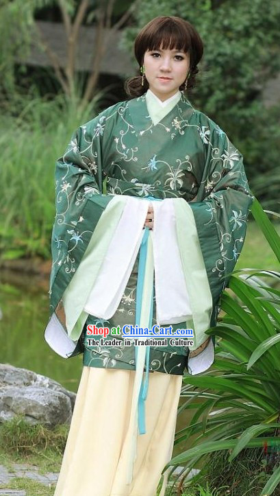 Traditional Chinese Ceremony Hanfu Clothing Complete Set for Women