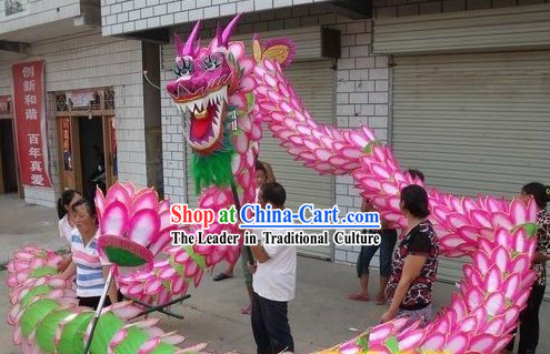 Happy Festival Celebration Ceremony Lotus Dragon Dance Costume Complete Set