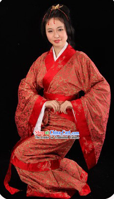Ancient Chinese Imperial Princess Hanfu Clothing Complete Set