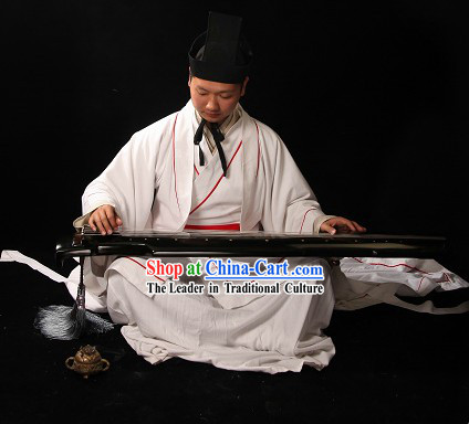 Ancient Chinese Palace Musician Costume and Hat for Men