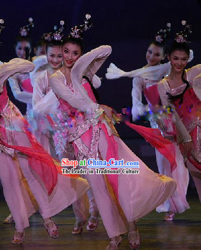 Chinese Classical Dance Costumes Ancient Mandarin Tao Yao Costumes for Lady in Pink