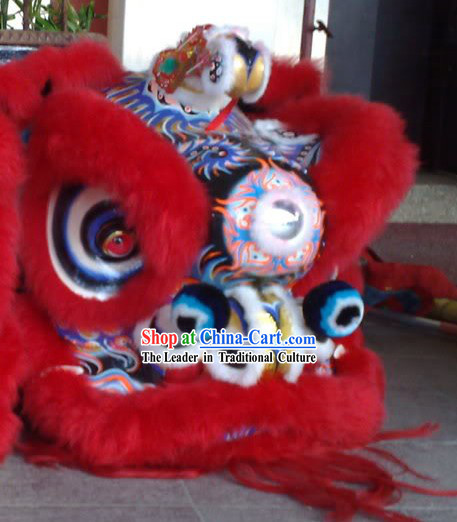 Traditoinal Lucky Red Opening and Performance Lion Dance Equipment Complete Set