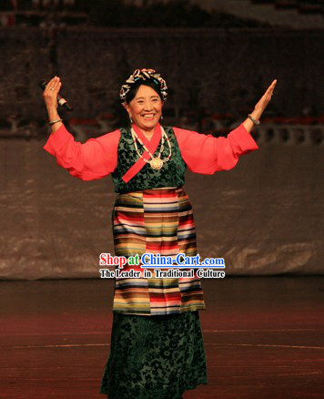 Chinese Tibetan Women Clothing Complete Set