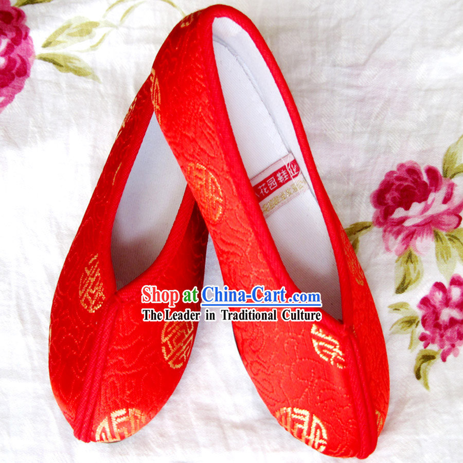 Chinese Red Embroidery Shoes for Boys