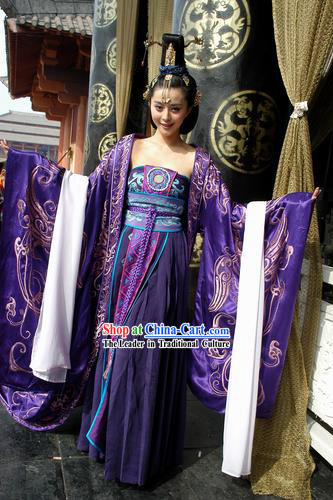Ancient Chinese Shang Dynasty Costume Su Daji Feng Shen Bang Imperial Daji Concubine Costumes Complete Set