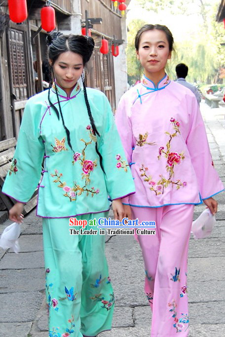Traditional Chinese Girl Parade Costumes Complete Set