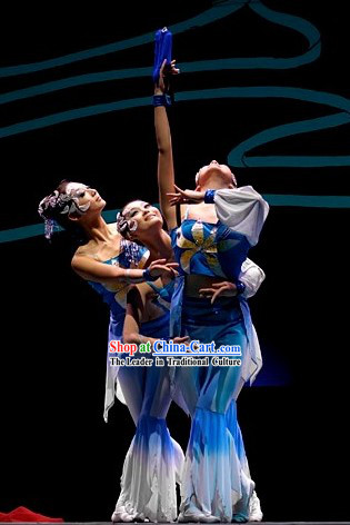 Traditional Chinese Sword Group Dance Costumes Complete Set