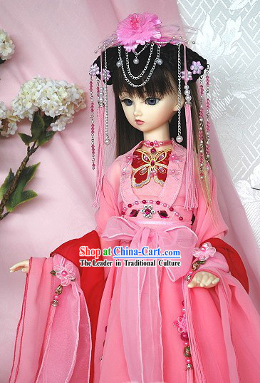 Chinese Ancient Princess Clothing and Wig Complete Set