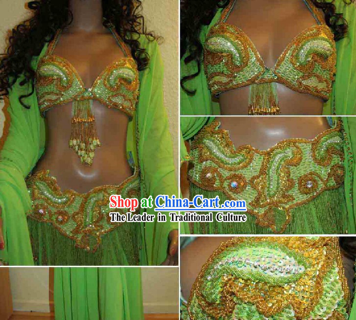 Top Belly Dance Performance Outfit Complete Set for Women