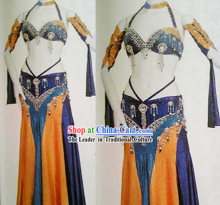 Top Belly Dance Performance Costume Complete Set for Women