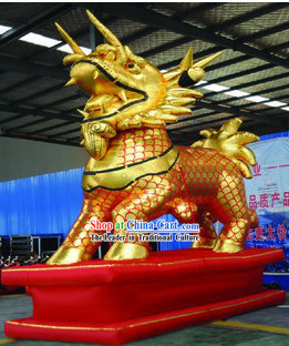 Traditional Large Inflatable Golden Kylin