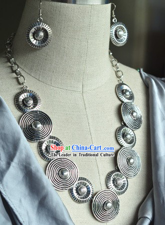 Indian Silver Necklace Set