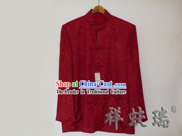 Traditional Rui Fu Xiang Silk Tang Wedding Suit for Men