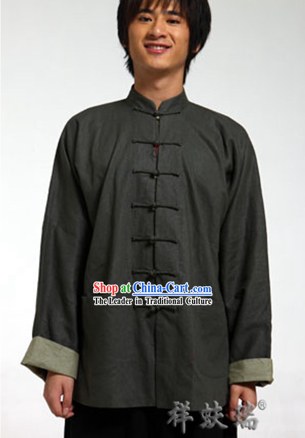 Traditional Chinese Flax Tang Suit for Men
