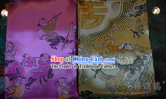 Rui Fu Xiang Traditional Chinese Wedding Brocade Bedcover