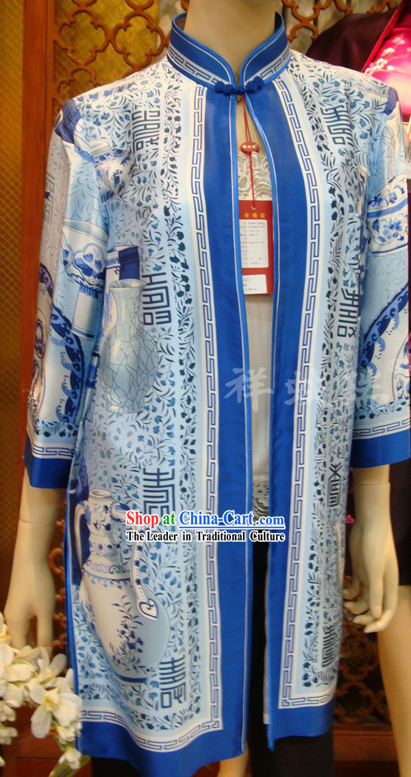 Chinese Peking Rui Fu Xiang Silk Tang Suit for Women