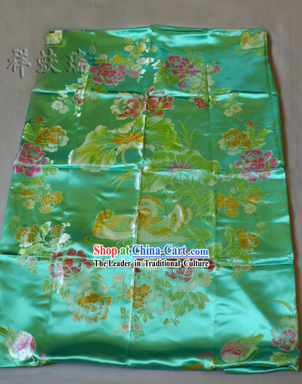 Chinese Peking Rui Fu Xiang Mandarin Ducks Wedding Brocade Bedcover