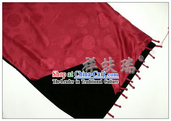 Chinese Beijing Rui Fu Xiang Silk Double Sided Scarf