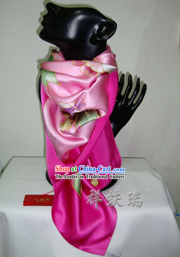 Chinese Rui Fu Xiang Silk Scarf for Women