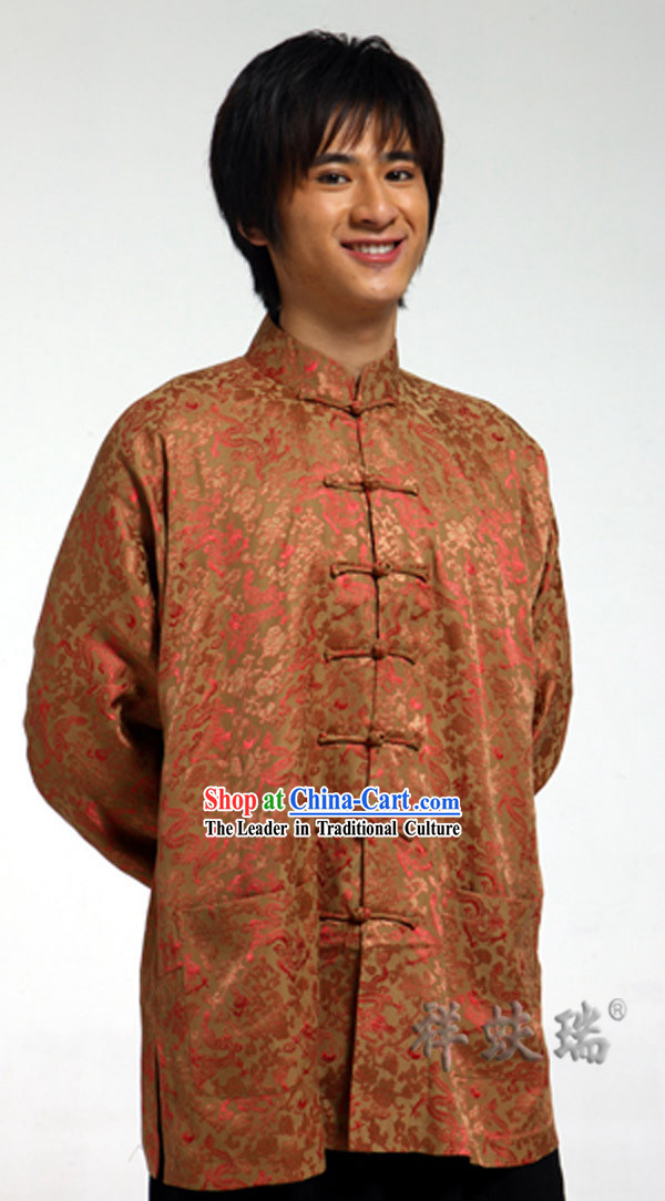Traditional Chinese Rui Fu Xiang Minguo Tang Blouse for Men