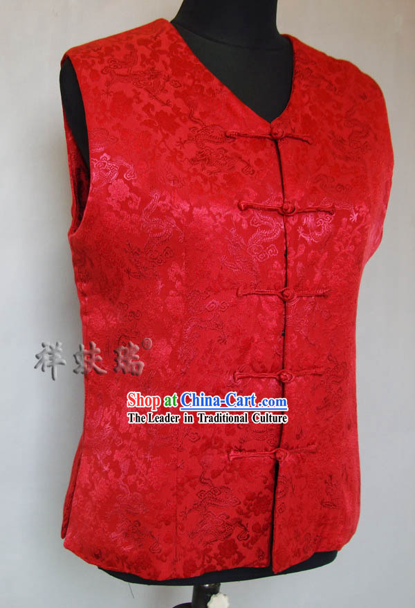 Traditional Chinese Famous Time-honored Rui Fu Xiang Wedding Dragon Jacket