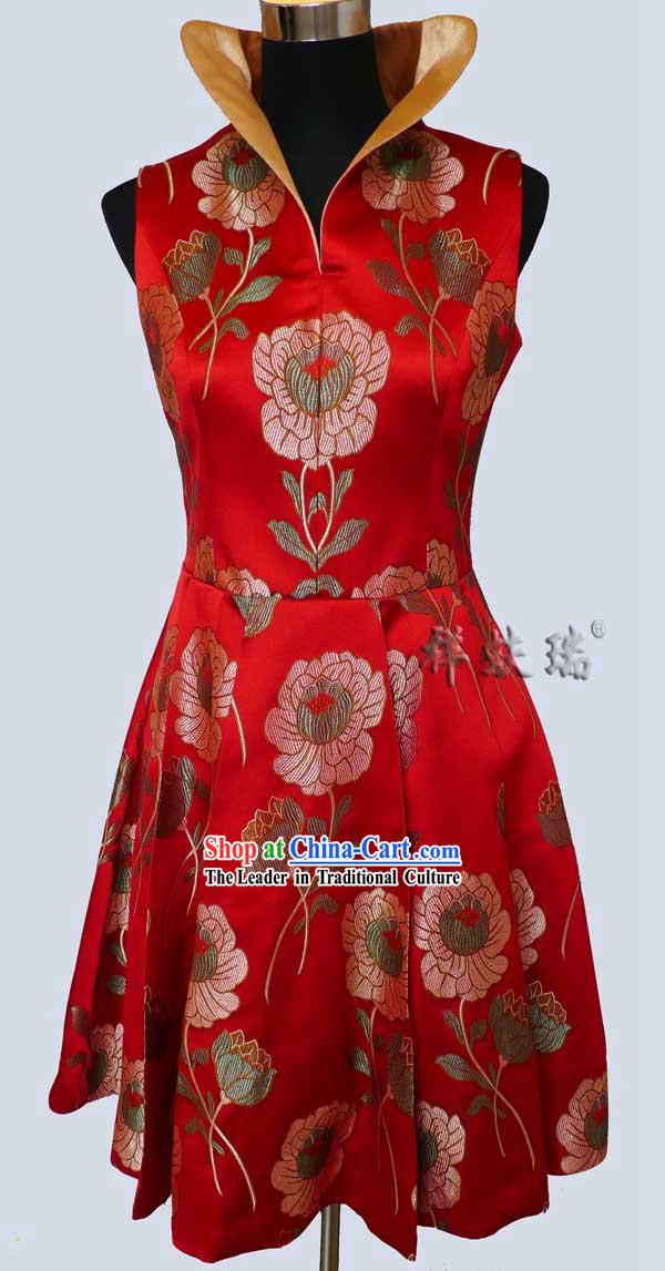 Famous Time-honored Rui Fu Xiang Silk Dragon Blouse for Women