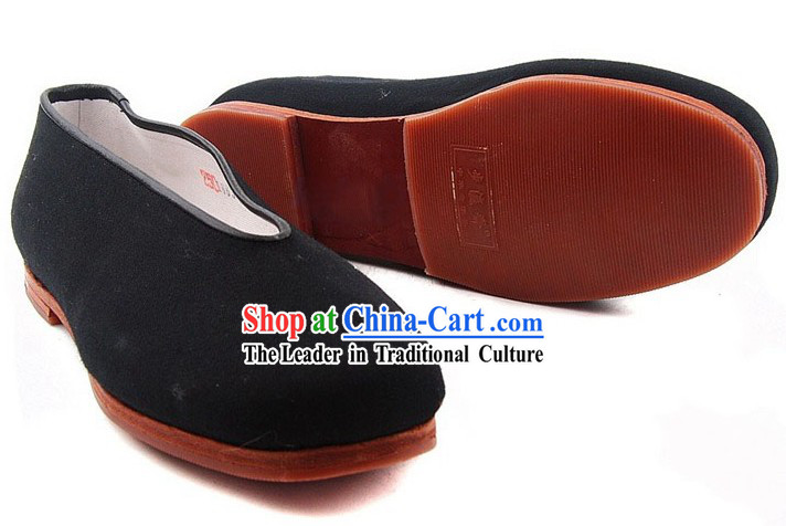 Chinese Classic Handmade Bu Ying Zhai Black Shoes for Women