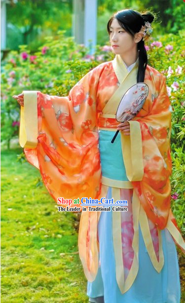 Han Chinese Dancer Costumes Full Set for Women