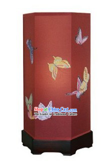 Chinese Hand Painted Silk Palace Floor Lantern