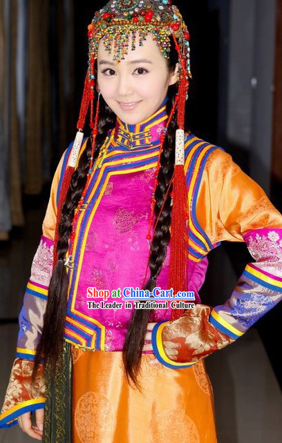 Qing Dynasty Mongolian Prince Costumes Full Set